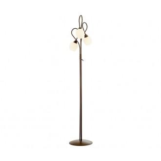NOWODVORSKI 1512   Miki Nowodvorski stojaté svietidlo 180cm prepínač 3x E27 hnedá, biela