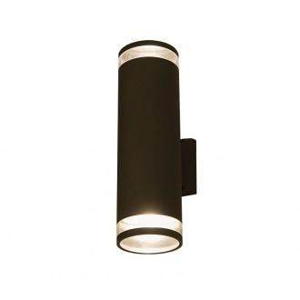 NOWODVORSKI 3407 | RockN Nowodvorski stenové svietidlo 2x E27 IP44 čierna, priesvitná