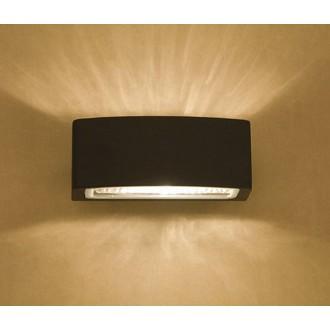 NOWODVORSKI 3408 | Brick Nowodvorski stenové svietidlo 1x E27 IP65 grafit, priesvitná