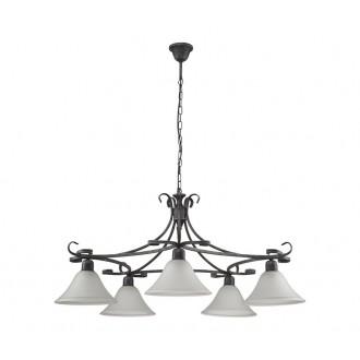NOWODVORSKI 3527 | Flores Nowodvorski luster svietidlo 5x E27 sivé, biela