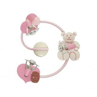 NOWODVORSKI 3660 | Honey Nowodvorski stenové, stropné svietidlo otočné prvky 3x E14-R50 ružové, biela