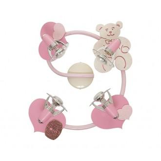 NOWODVORSKI 3662 | Honey Nowodvorski stenové, stropné svietidlo otočné prvky 4x E14-R50 ružové, biela
