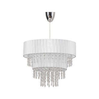 NOWODVORSKI 4013 | ToscanaN Nowodvorski visiace svietidlo 1x E27 biela, priesvitné