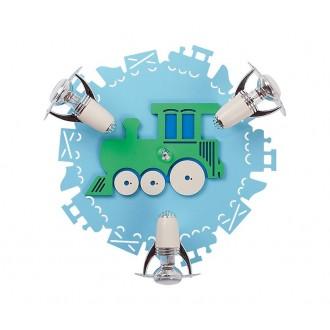 NOWODVORSKI 4064 | Train Nowodvorski stenové, stropné svietidlo otočné prvky 3x E14-R50 modrá, biela
