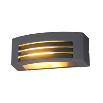 NOWODVORSKI 4387 | Orinoko Nowodvorski stenové svietidlo navrhované na úsporné žiarovky 1x E27 IP44 sivé