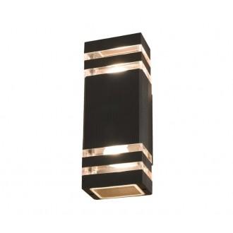 NOWODVORSKI 4424 | Rio Nowodvorski stenové svietidlo 2x E27 IP54 čierna, priesvitná