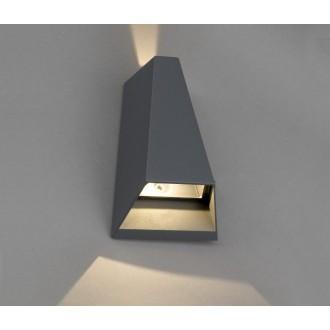 NOWODVORSKI 4441 | Peak Nowodvorski stenové svietidlo 2x LED 62lm 3000K IP54 sivé