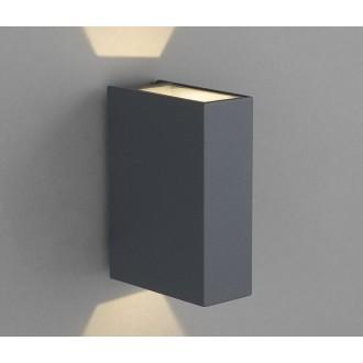 NOWODVORSKI 4442 | Dras Nowodvorski stenové svietidlo 2x LED 122lm 3000K IP54 sivé