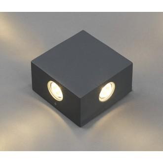 NOWODVORSKI 4444 | Zem Nowodvorski stenové svietidlo 4x LED 321lm 3000K IP54 sivé