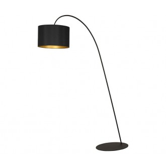 NOWODVORSKI 4963 | AliceN Nowodvorski stojaté svietidlo 205cm prepínač 1x E27 čierna, zlatý