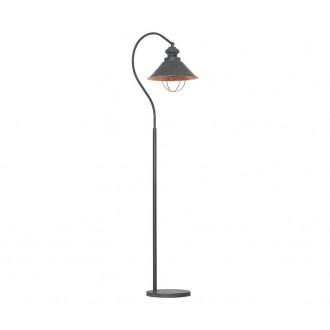 NOWODVORSKI 5056 | Loft Nowodvorski stojaté svietidlo 179cm prepínač 1x E27 taupe, mosadz