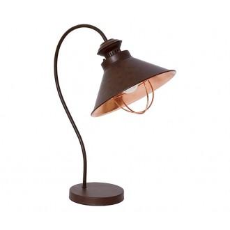 NOWODVORSKI 5060   Loft Nowodvorski stolové svietidlo 48cm prepínač 1x E27 čokoláda, mosadz