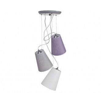 NOWODVORSKI 5197 | Retto Nowodvorski visiace svietidlo 3x E27 biela, sivé, fialové