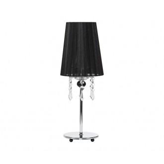 NOWODVORSKI 5262 | Modena Nowodvorski stolové svietidlo 41cm prepínač 1x E14 chróm, čierna, priesvitné