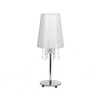 NOWODVORSKI 5263 | Modena Nowodvorski stolové svietidlo 41cm prepínač 1x E14 chróm, biela, priesvitné