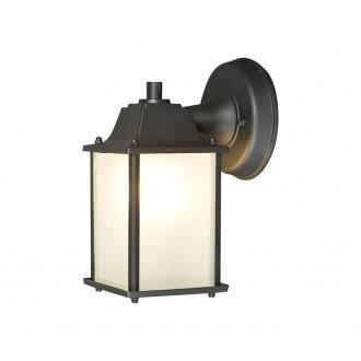 NOWODVORSKI 5290 | Spey Nowodvorski stenové svietidlo 1x E27 IP23 tmavošedá, opál