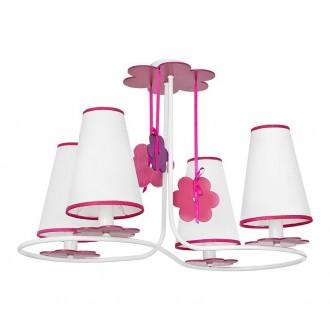 NOWODVORSKI 5303 | Praslin Nowodvorski stropné svietidlo 4x E14 biela, ružové, fialová