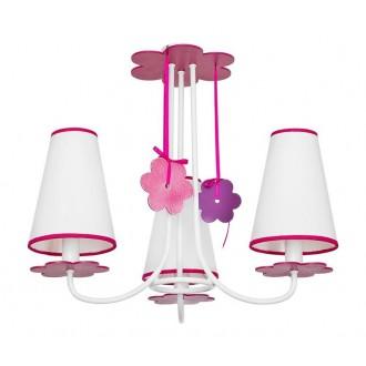 NOWODVORSKI 5304 | Praslin Nowodvorski stropné svietidlo 3x E14 biela, ružové, fialová