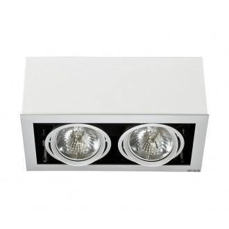 NOWODVORSKI 5306 | BoxN Nowodvorski stropné svietidlo otáčateľný svetelný zdroj 2x G53 / AR111 biela