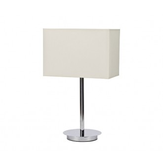 NOWODVORSKI 5476 | Hotel Nowodvorski stolové svietidlo 43cm prepínač 1x E27 chróm, biela
