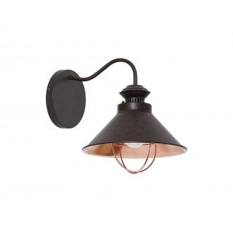NOWODVORSKI 5664   Loft Nowodvorski rameno stenové svietidlo 1x E27 čokoláda, mosadz