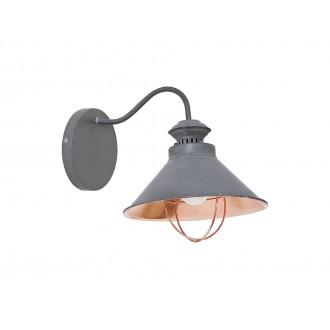 NOWODVORSKI 5665 | Loft Nowodvorski stenové svietidlo 1x E27 taupe, mosadz