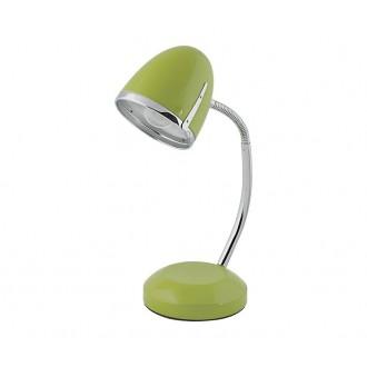 NOWODVORSKI 5796 | Pocatello Nowodvorski stolové svietidlo 36cm prepínač flexibilné 1x E27 zelená, chróm