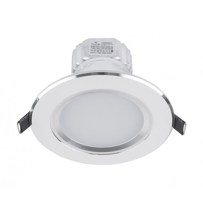 NOWODVORSKI 5955 | Ceiling-LED Nowodvorski zabudovateľné svietidlo Ø110mm 1x LED 500lm 4000K biela
