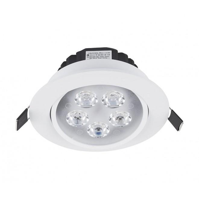 NOWODVORSKI 5958 | Ceiling-LED Nowodvorski zabudovateľné svietidlo sklápacie Ø110mm 5x LED 500lm 4000K biela