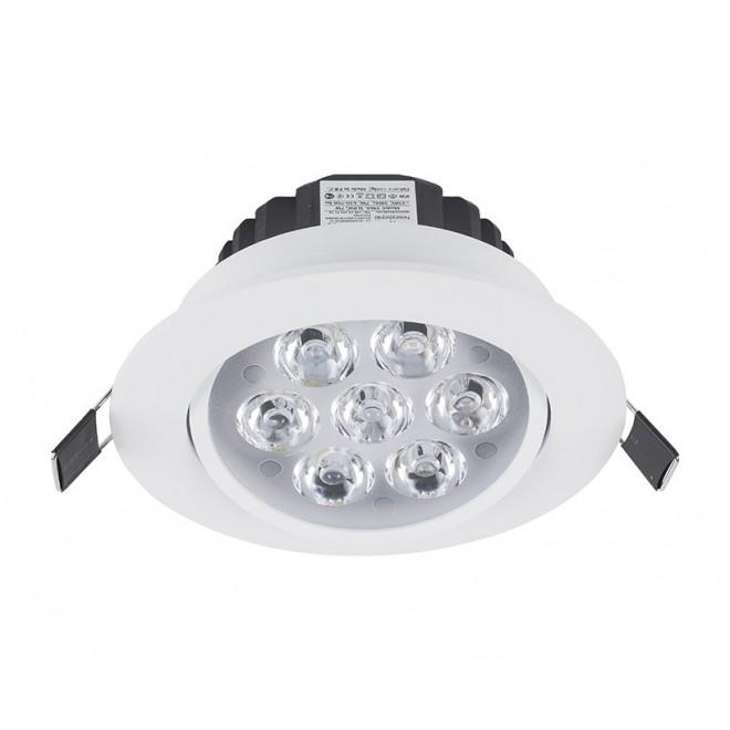 NOWODVORSKI 5960 | Ceiling-LED Nowodvorski zabudovateľné svietidlo sklápacie Ø110mm 7x LED 700lm 4000K biela