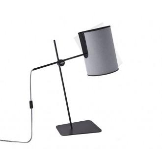 NOWODVORSKI 6012 | Zelda Nowodvorski stolové svietidlo 65cm prepínač na vedení otočné prvky 1x E27 sivé, čierna