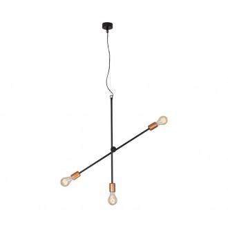 NOWODVORSKI 6268 | Sticks Nowodvorski visiace svietidlo otočné prvky 3x E27 čierna, mosadz