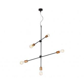NOWODVORSKI 6270 | Sticks Nowodvorski visiace svietidlo otočné prvky 5x E27 čierna, mosadz