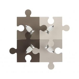 NOWODVORSKI 6382 | Puzzle Nowodvorski stenové svietidlo otočné prvky 4x GU10 farebné, biela, chróm