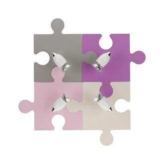NOWODVORSKI 6384 | Puzzle Nowodvorski stenové svietidlo otočné prvky 4x GU10 farebné, biela, chróm