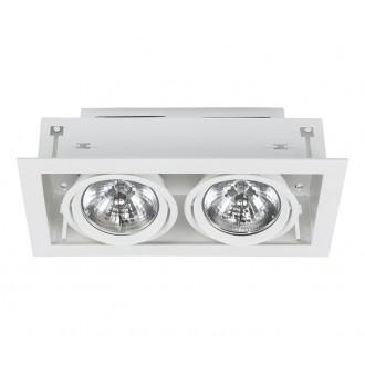 NOWODVORSKI 6453 | Downlight Nowodvorski zabudovateľné - zapustené svietidlo otáčateľný svetelný zdroj 375x190mm 2x G53 / AR111 biela