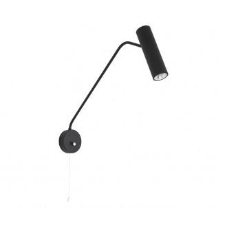 NOWODVORSKI 6501 | Eye-Black Nowodvorski rameno stenové svietidlo prepínač na ťah otočné prvky 1x GU10 čierna