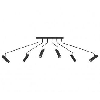 NOWODVORSKI 6505 | Eye-Black Nowodvorski stropné svietidlo otočné prvky 6x GU10 čierna