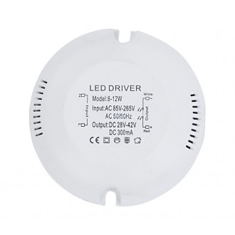 NOWODVORSKI 6575 | Nowodvorski LED napájací zdroj 300mA DC 8-12W 28-42V kruhový biela