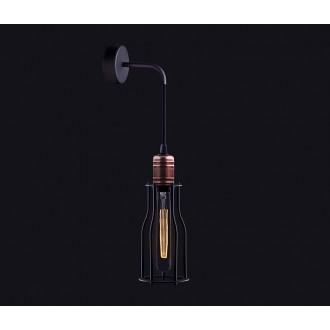 NOWODVORSKI 6605 | Workshop Nowodvorski rameno stenové svietidlo 1x E27 čierna, mosadz