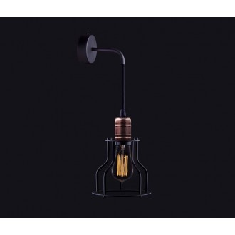 NOWODVORSKI 6606 | Workshop Nowodvorski rameno stenové svietidlo 1x E27 čierna, mosadz