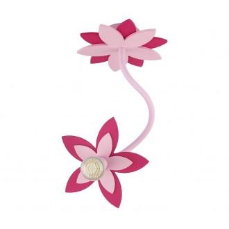 NOWODVORSKI 6893 | Flowers Nowodvorski stenové, stropné svietidlo flexibilné 1x GU10 ružové, červená