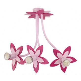 NOWODVORSKI 6894 | Flowers Nowodvorski stenové, stropné svietidlo flexibilné 3x GU10 ružové, červená