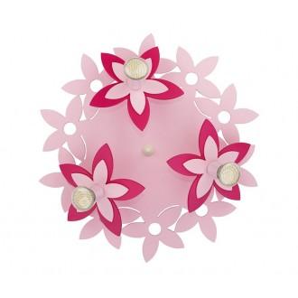 NOWODVORSKI 6895 | Flowers Nowodvorski stenové, stropné svietidlo 3x GU10 ružové, červená