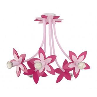 NOWODVORSKI 6896 | Flowers Nowodvorski stropné svietidlo flexibilné 5x GU10 ružové, červená