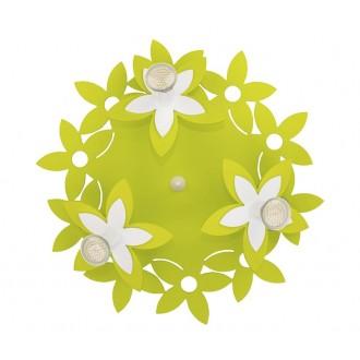 NOWODVORSKI 6900 | Flowers Nowodvorski stenové, stropné svietidlo 3x GU10 zelená, biela