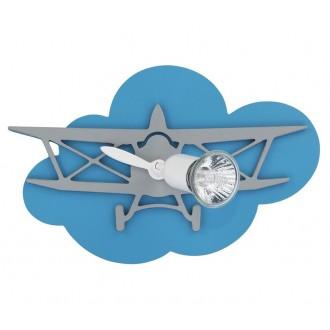 NOWODVORSKI 6902 | Plane Nowodvorski stenové, stropné svietidlo otočné prvky 1x GU10 modrá, sivé, biela