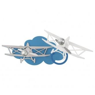NOWODVORSKI 6903 | Plane Nowodvorski stenové, stropné svietidlo otočné prvky 2x GU10 modrá, sivé, biela