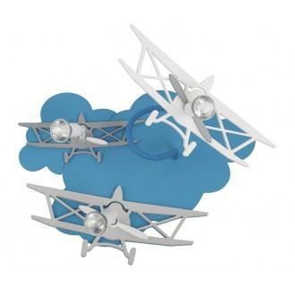 NOWODVORSKI 6904 | Plane Nowodvorski stenové, stropné svietidlo otočné prvky 3x GU10 modrá, sivé, biela