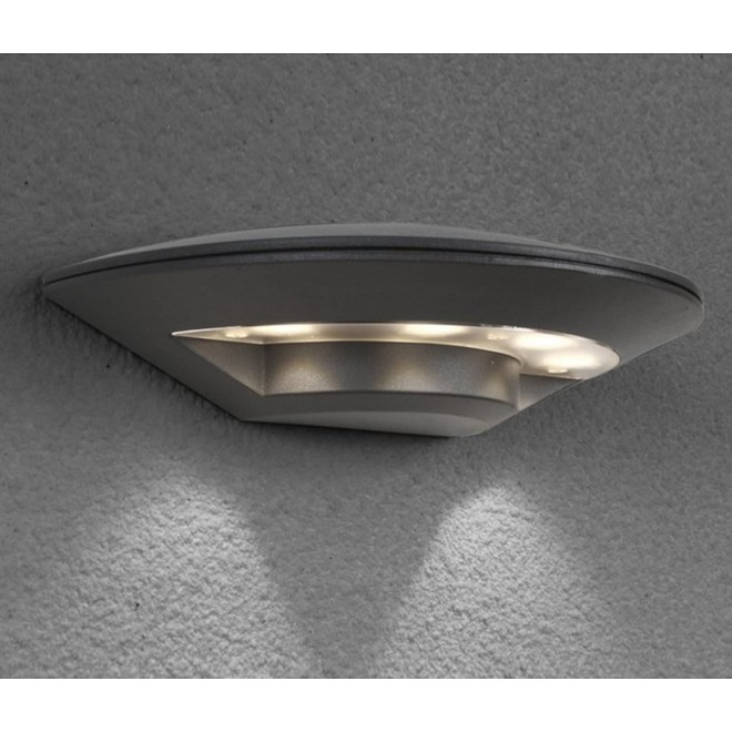NOWODVORSKI 6910 | Disc Nowodvorski stenové svietidlo 4x LED 350lm 3000K IP44 tmavošedá